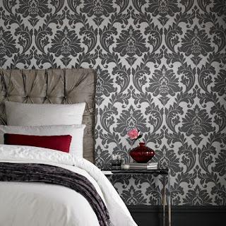 Wallpaper pada kamar tidur