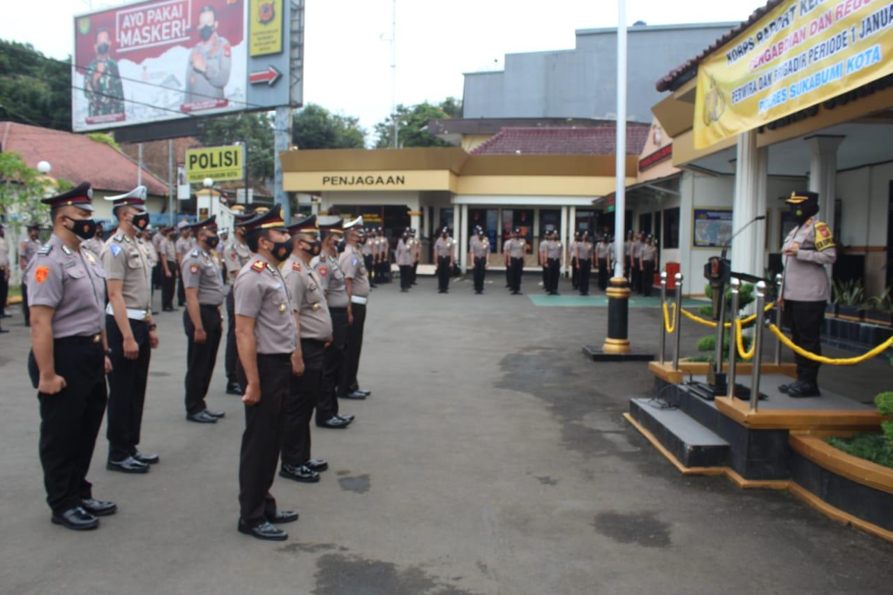 107 Personel Polres Sukabumi Kota Naik Pangkat