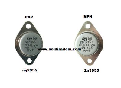 Persamaan Transistor 2n3055 dan mj2955