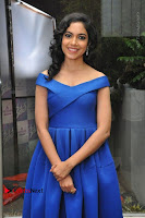 Actress Ritu Varma Pos in Blue Short Dress at Keshava Telugu Movie Audio Launch .COM 0077.jpg