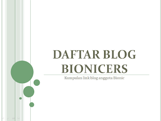 Daftar Blog Bionicers
