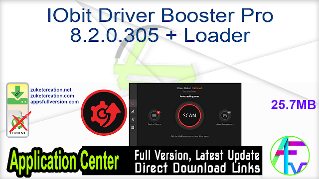 IObit Driver Booster Pro 8.2.0.305 + Loader