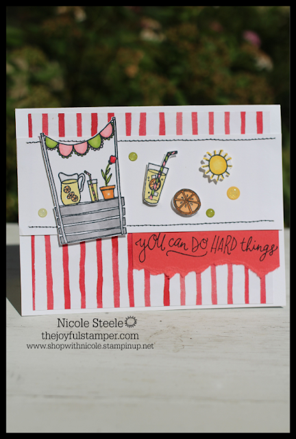 Stampin' Up! Sunny Days encouragement card by Nicole Steele The Joyful Stamper