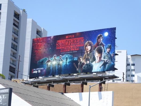 Stranger Things series billboard