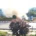 VIDEO. Incendiu puternic langa fostul InterEx