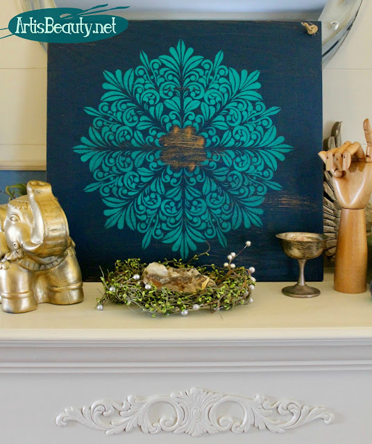 diy fleur medallion boho chic bohemain home decor wall art deco art americana