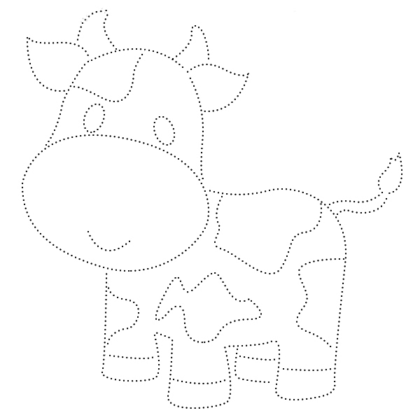 раскраска, обводилка, домашнее животное