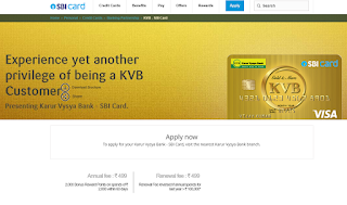 How to Apply SBI Credit Card Online, Karur Vysya Bank - SBI Card