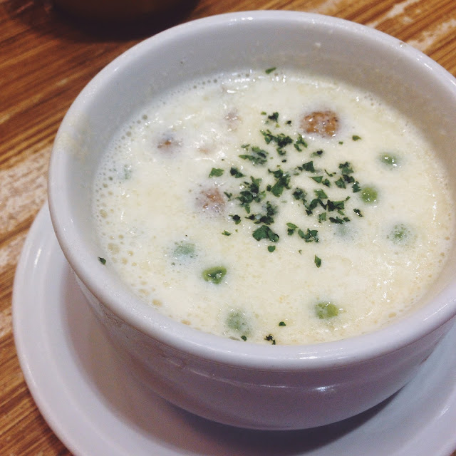 creamy soup from d angelo pizzaria