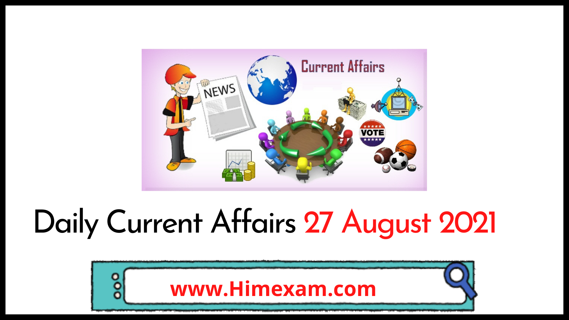Daily Current Affairs 27 August 2021