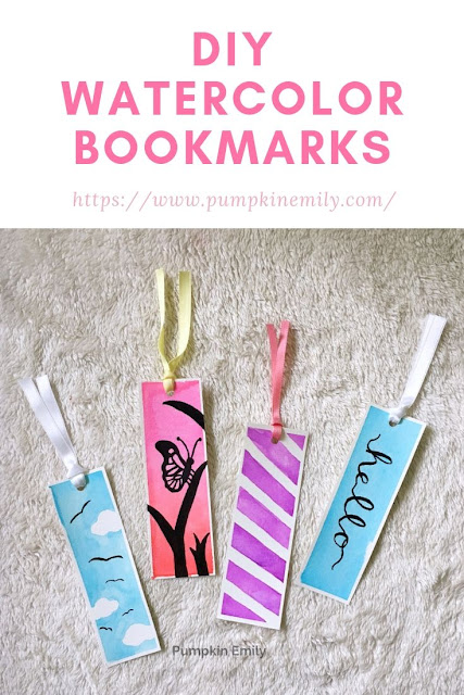 4 Easy DIY Watercolor Bookmark Ideas