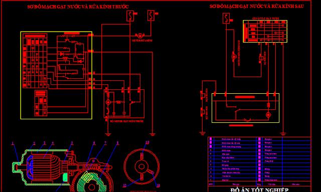 Bản vẽ hệ thống điện ô tô