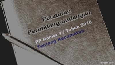Persyaratan pembentukan kecamatan dan penggabungan kecamatan telah diatur dalam PP terbaru yaitu Peraturan Pemerintah Nomor 17 Tahun 2018 tentang Kecamatan.