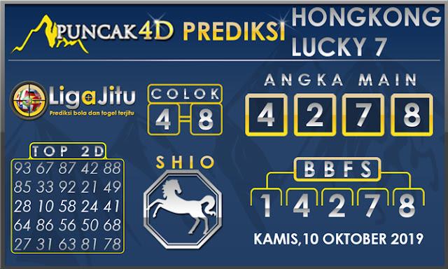 PREDIKSI TOGEL HONGKONG LUCKY7 PUNCAK4D 10 OKTOBER 2019