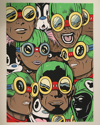 New York Comic Con 2017 Exclusive Flyboy Screen Print by Steve Seeley x Hebru Brantley