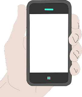 Holding Phone png