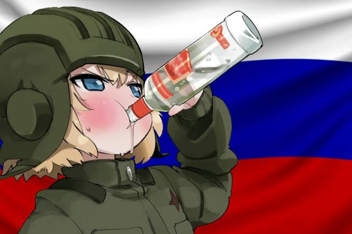 Katyusha Drinking Vodka - Girls und Panzer