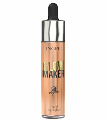 Iluminator lichid INGRID Cosmetics Vegan Collection Glow Maker, 03, 20 ml