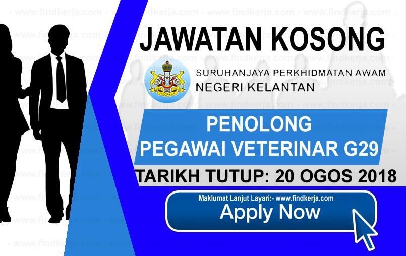 Jawatan Kerja Kosong Suruhanjaya Perkhidmatan Negeri Kelantan logo www.ohjob.info www.findkerja.com ogos 2018