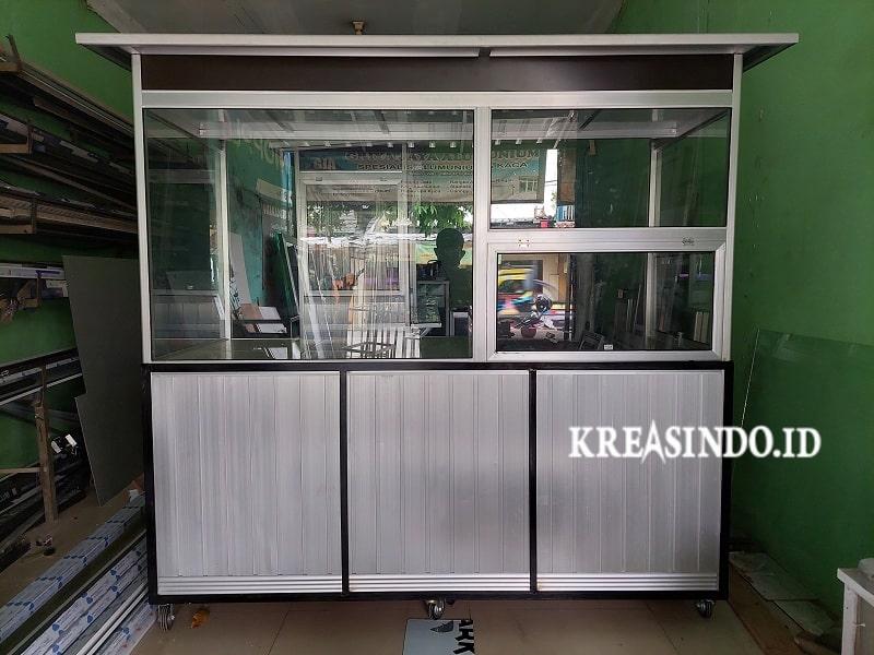 Gerobak Alumunium untuk Jualan Gorengan pesanan Bpk Yudha di Bekasi
