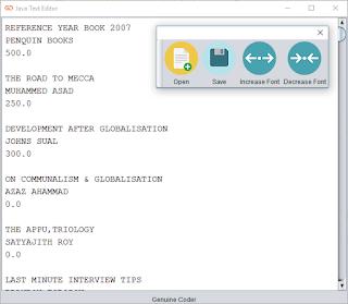 Java Text Editor Notepad Main Window