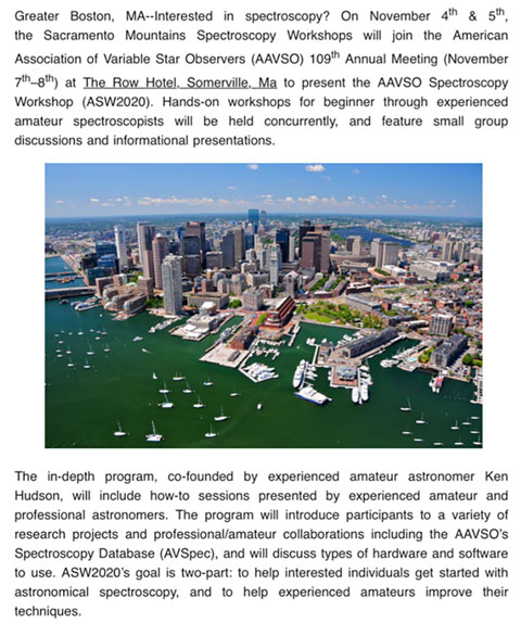 Get your plans in place to attend the 109th AAVSO Meeting (Source: www.aavso.org)