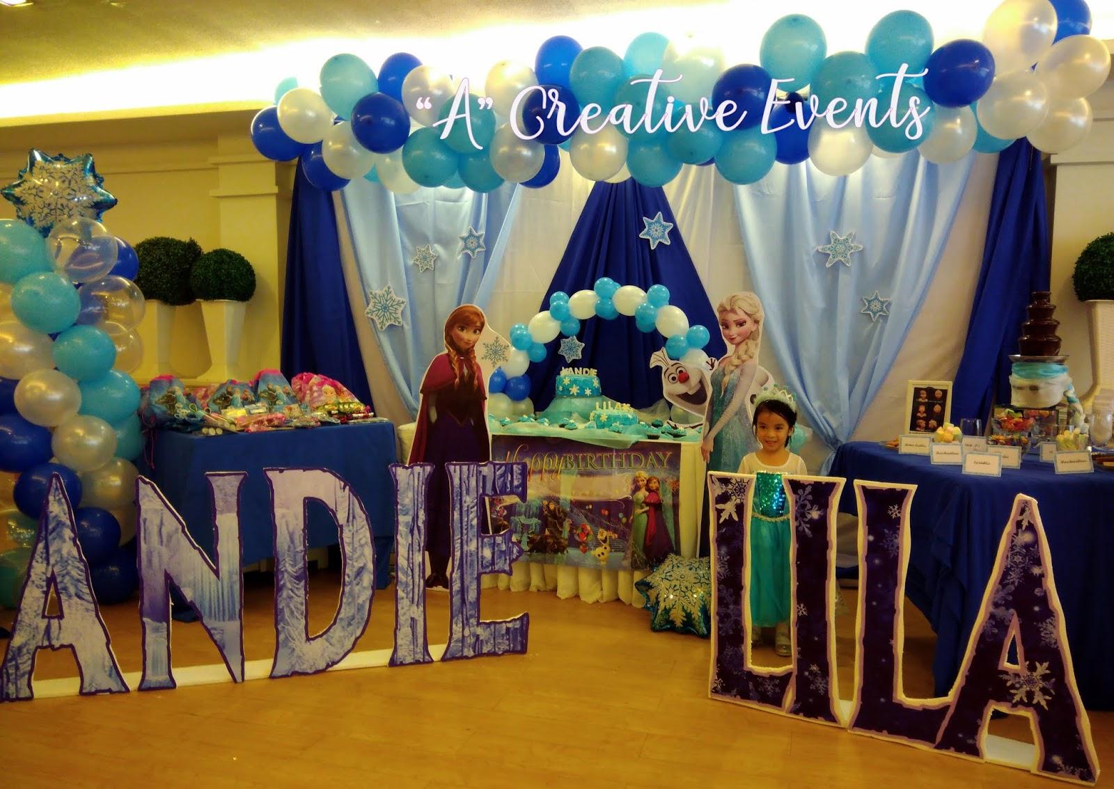 Birthday Celebrant in Elsa Costume - Frozen Themed Party