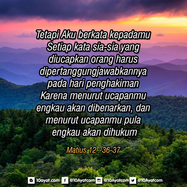 Matius 12 : 36-37