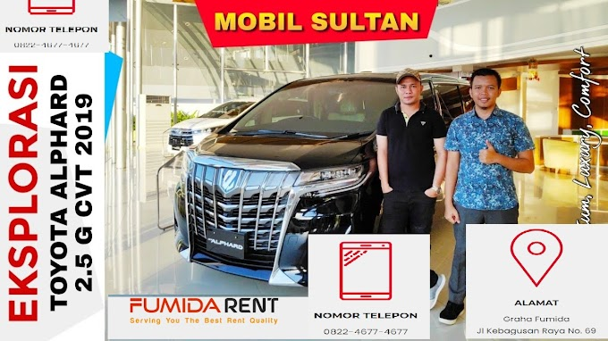 Eksplorasi Toyota ALPHARD 2019 Tipe 2.5 G CVT New Facelift (Mobil Sultan) Toyota Indonesia