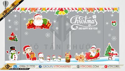 Bộ Noel giáng sinh - Merry christmas CorelDRAW