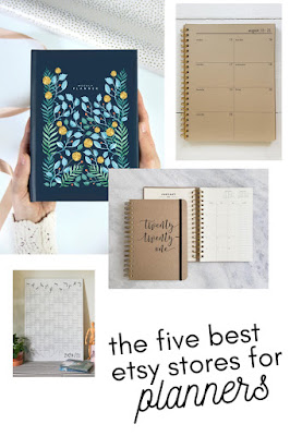 The Five Best Etsy stores for Planners