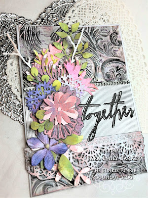 Sara Emily Barker https://sarascloset1.blogspot.com/2019/07/togethera-metallic-wedding-card-for.html Tim HOltz 3D Embossed Wedding Card 1