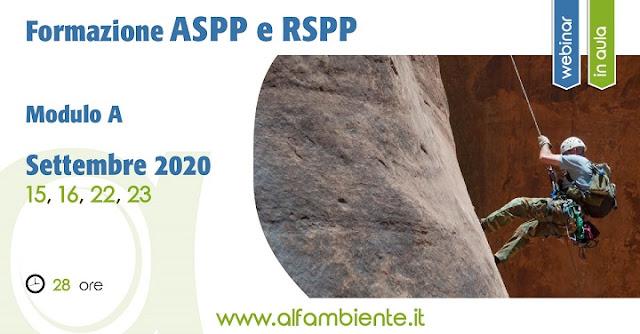 Formazione ASPP / RSPP - Modulo A
