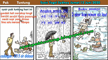 Prediksi Togel Sydney Jumat 12 Juni 2020 - Pak Tuntung