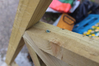 screw through top of wood