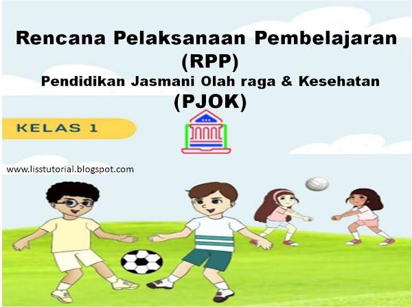Contoh RPP 1 Lembar PJOK Kelas 1 SD/MI Kurikulum 2013