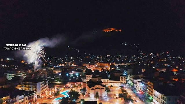 Πολύχρωμα βεγγαλικά στο Άργος για την Ανάσταση (βίντεο)