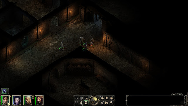 Screenshot of the dungeon in Raedric's Hold in Pillars of Eternity