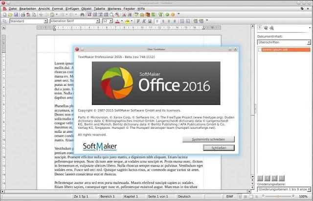 Download SoftMaker Office Standard 2016 Gratis Product Key