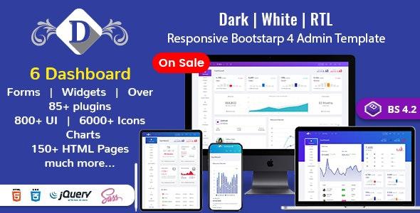 Responsive Premium Dashboard Admin Template