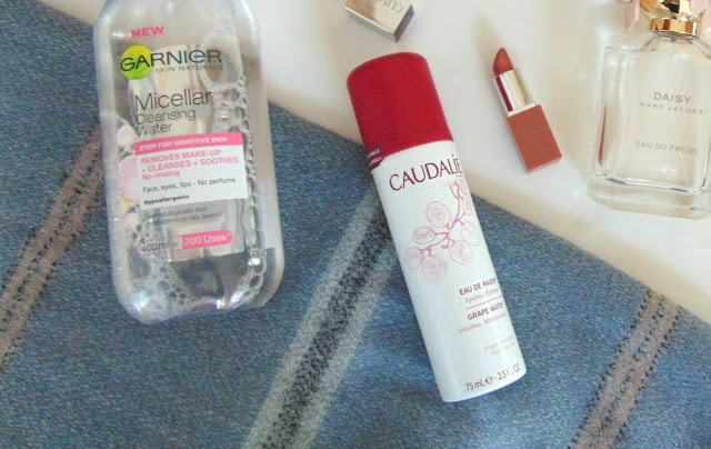garnier micellar water, caudalie, clinique
