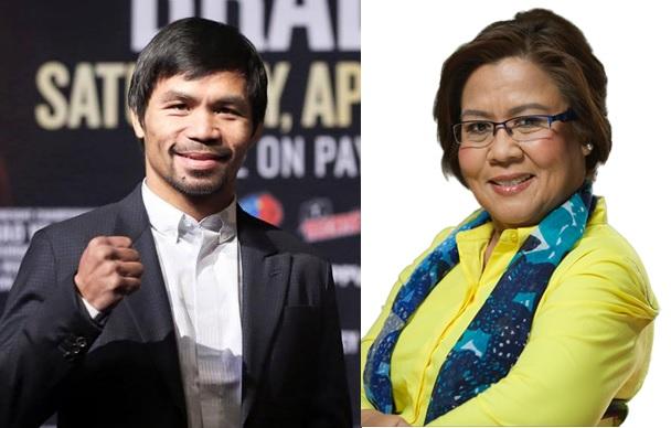 Manny Pacquiao and Leila de Lima