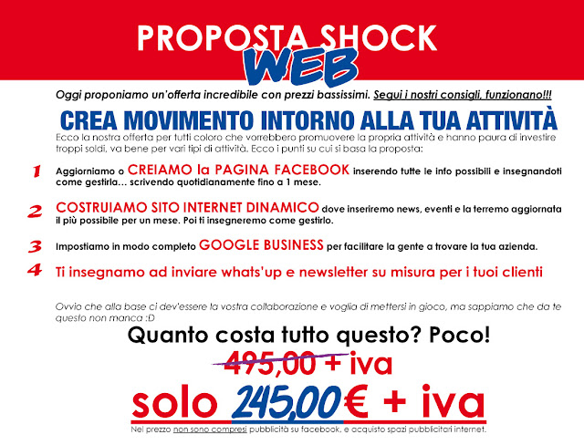 OFFERTA SHOCK WEB E OFFERTA SHOCK BASIC  PRIMO PREZZO