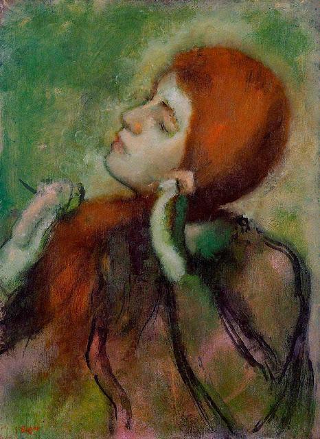 Эдгар Дега - Женщина, расчёсывающая свои волосы (ок.1894)