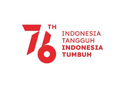 Logo Kemerdekaan RI ke-76 2021 Background Putih Dengan Tagline JPG