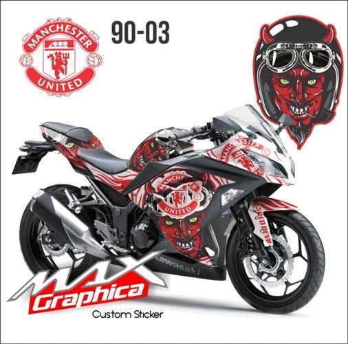 sticker decal Ninja 250FI Manchester united