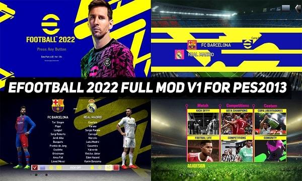PES 2013 Mod eFootball 2022 Full v1