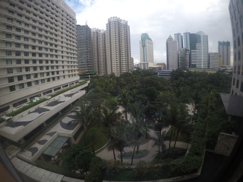 View of the cityscape from EDSA Shangri-La Hotel