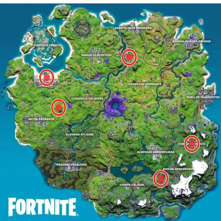 Solution to the legendary challenges of week 1 Fortnite season 7