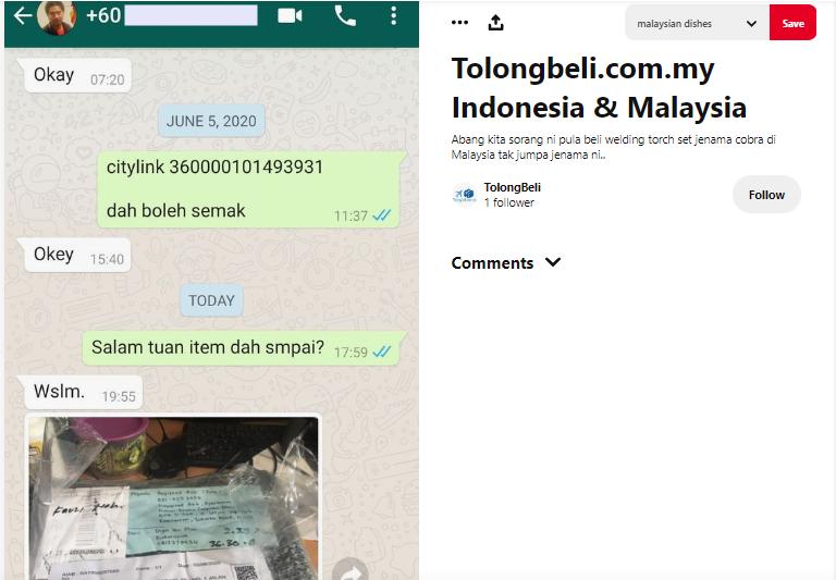 tolong beli barang indonesia malaysia